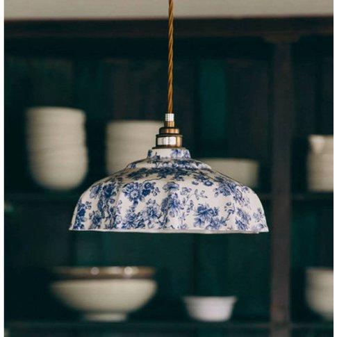 Campbell Blue Imari Pendant Light