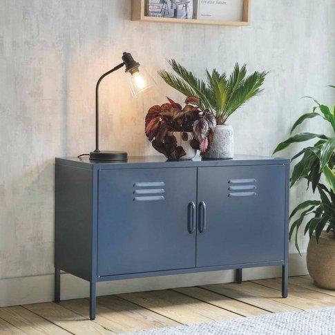 Metal Locker Cabinet In Ink Blue