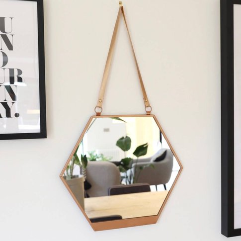 Copper Hexagonal Mirror