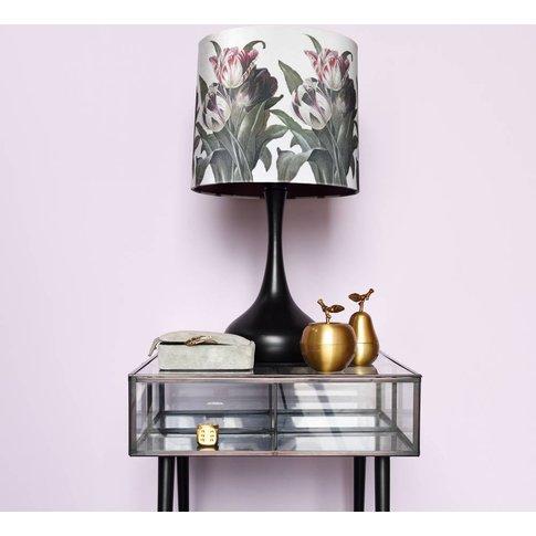 Floral Print Shade And Lamp Base
