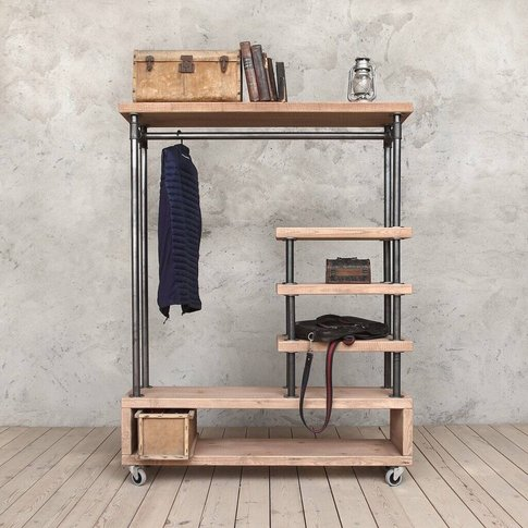 Tay Industrial Style Clothing Storage Unit