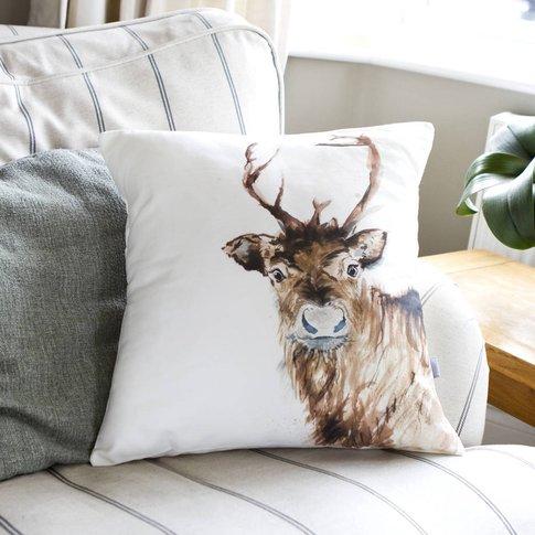 Inky Reindeer Cushion