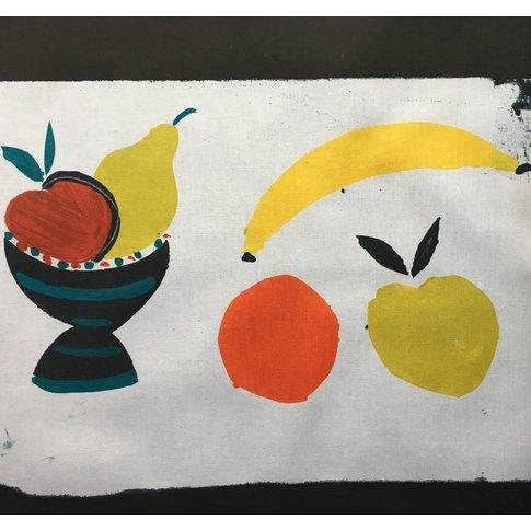 Fruit Bowl + Banana Tea Towel