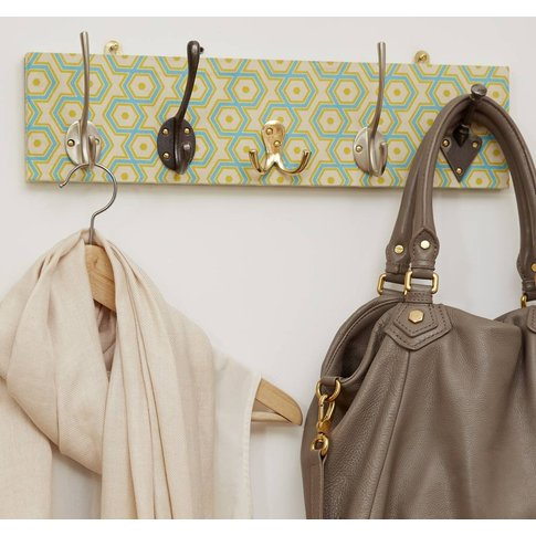 Hexagon Patterned Mismatched Coat Rack In Two Sizes