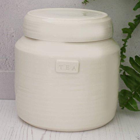 Hand Thrown Porcelain Storage Jar, Cream/Grey