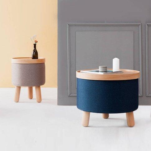 Stool Molde, Blue/Brown/Grey