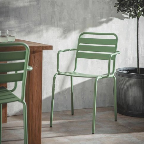 Pair Of Sage Green Garden Chairs