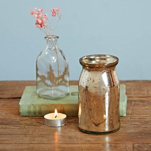 Antique Effect Glass Vase