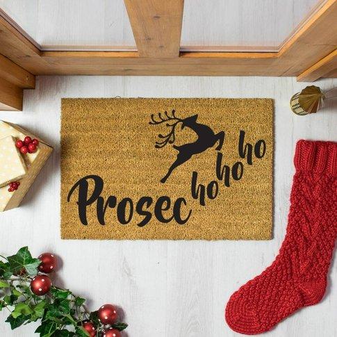 Prosecco Ho Ho Ho Festive Doormat