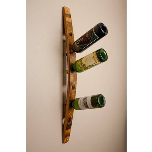Wall Wine Rack Six Bottle, Plain