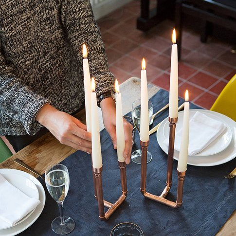 Trio Tall Candle Holder Decorative Centerpiece