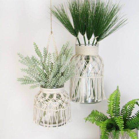 Macrame Glass Vase