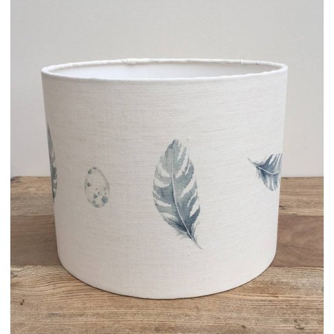 Feather And Egg Linen Lampshade