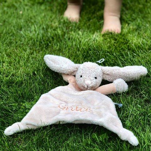 Personalised Corduroy Bunny Comforter Blanket