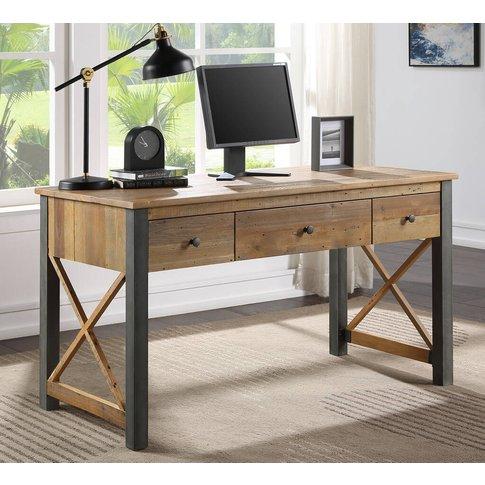 Harringay Reclaimed Wood Desk / Dressing Table