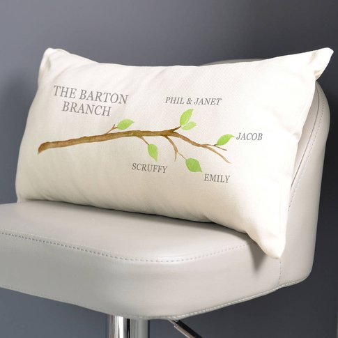 Personalised Family Tree Branch Cushion