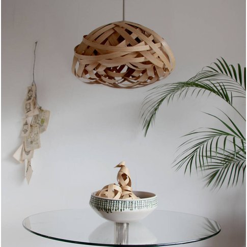 Blossom Knot Wooden Lampshade