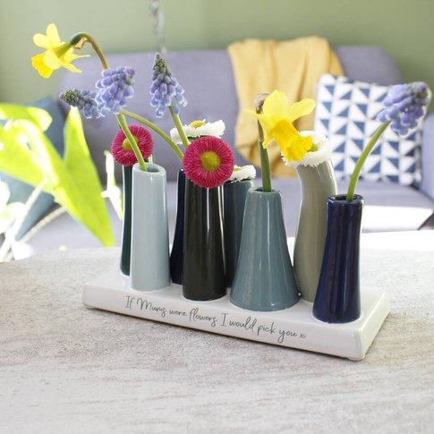 Personalised I'D Always Pick You Mum Multi Stem Vase