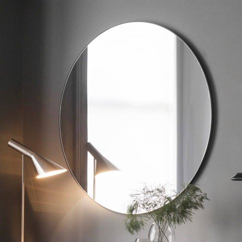 Extra Large Slim Round Mirror