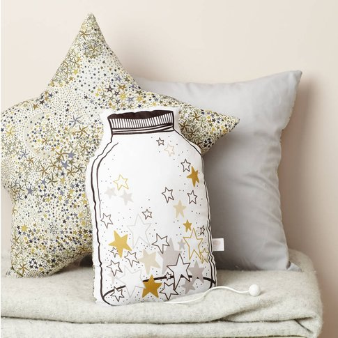 Jar Of Stars Music Box Cushion, Liberty Adelajda Gold