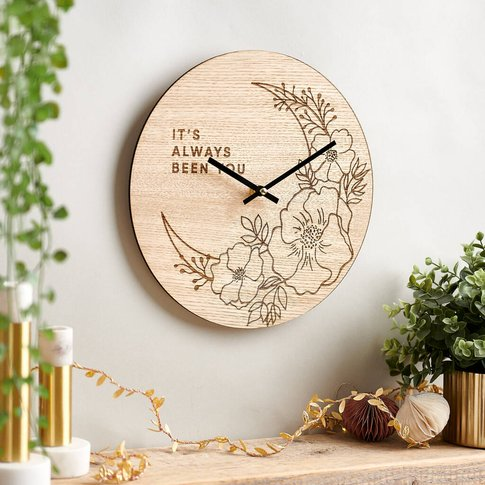 Flowers And Moon Clock