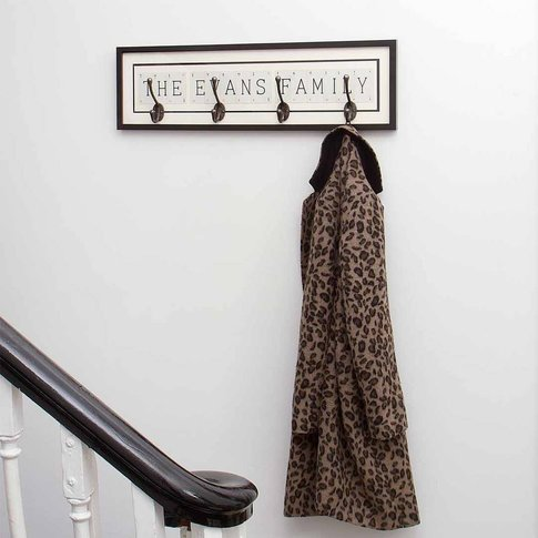 Personalised Vintage Card Coat Hook