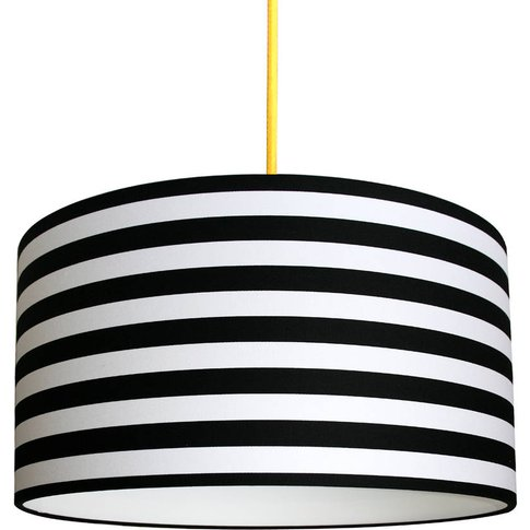Circus Stripes Handmade Lampshade In Black And White