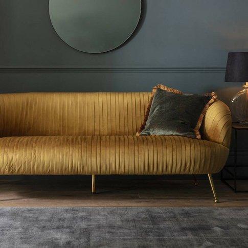Ochre Velvet Sofa