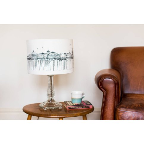 Black Stitched 'Pier' Lampshade