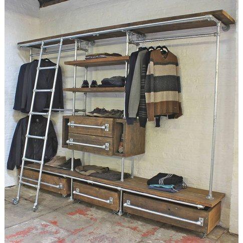 Davis Scaffolding Board Industrial Open Wardrobe