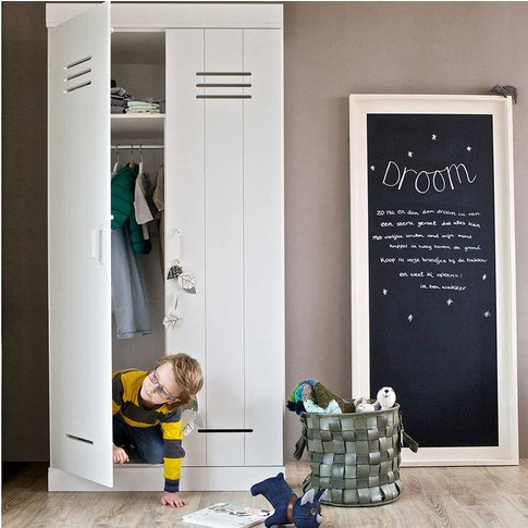 Contemporary Two Door Locker Cabinet With Storage