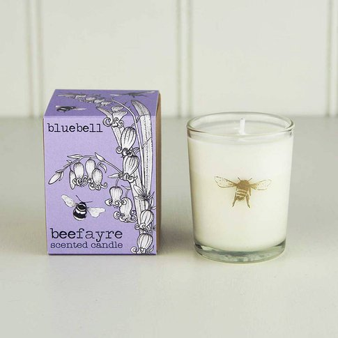 Bluebell And Anemone Scented Votive Candle, Blue