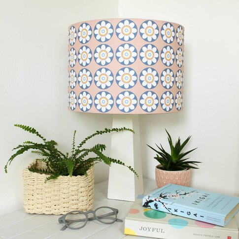 Daisy Daisy Lampshade In Pink Or Blue