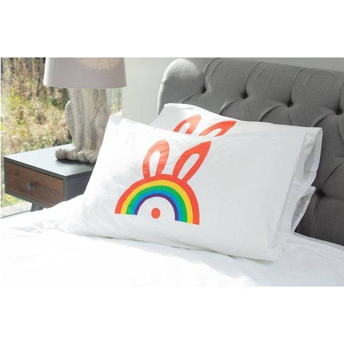Rainbow Bunny Pillowcase