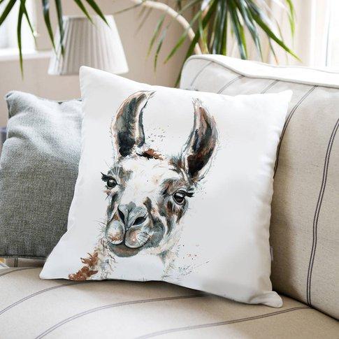 Inky Llama Large Luxury Cushion And Inner