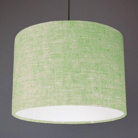 Green Washed Linen Fabric Lampshade