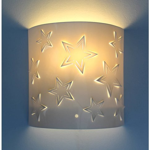 Star Wall Light, White/Baby Pink/Pink