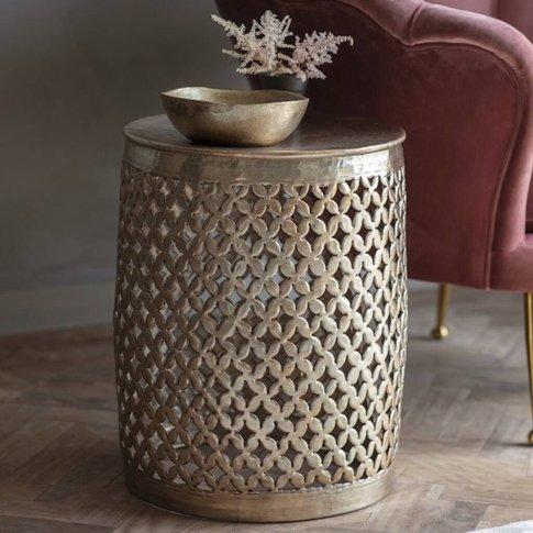 Metal Weaved Mini Side Table
