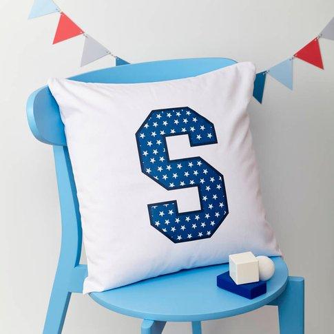 Boys Personalised Initial Cushion