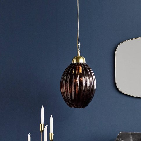 Smoked Burgundy Glass Pendant Light