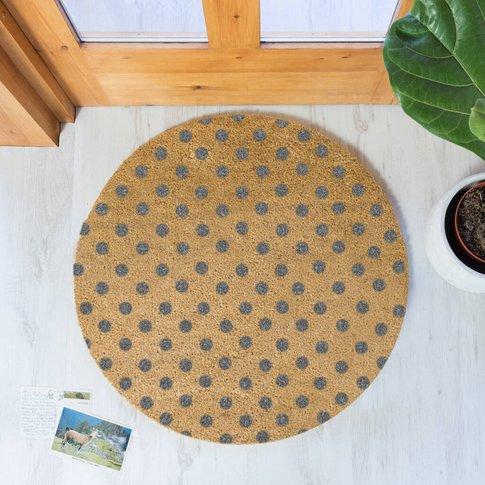 Circular Spots Print Doormat