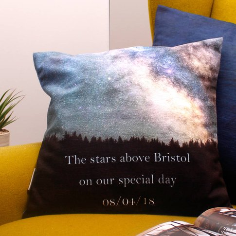 Romantic Gift Cushion With Personalised Constellation