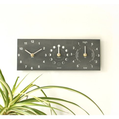 Moon, Time And Tide Clock From Recycled Bottles