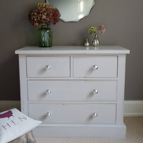 Chest Of Drawers Hand Painted ~ Any Colour, White/Li...