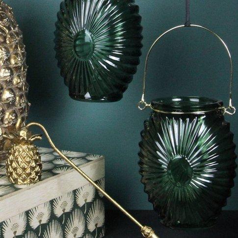 Art Deco Style Green Tealight Holder