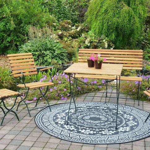 Round Reversible Outdoor Garden Rug