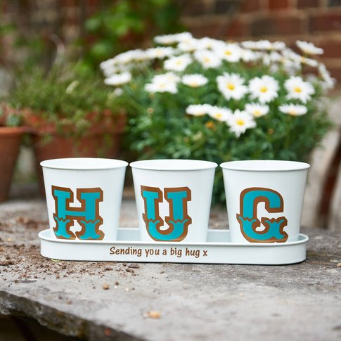 Personalised Letter Metal Planters