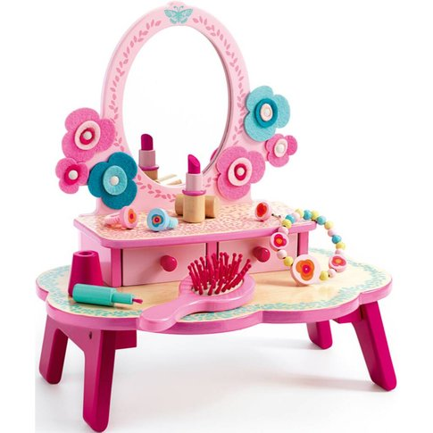 Pretend Play Kids Wooden Dressing Table