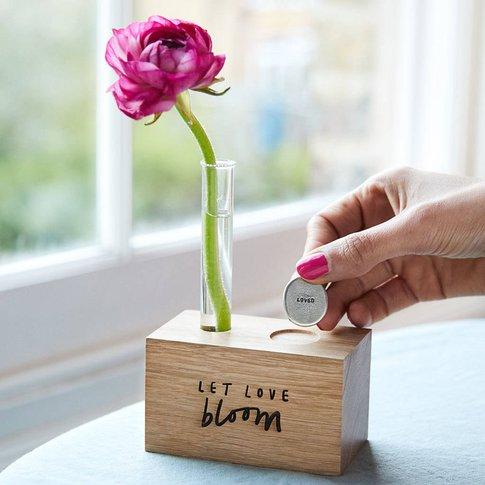 'Let Love Bloom' Vase And Token Set