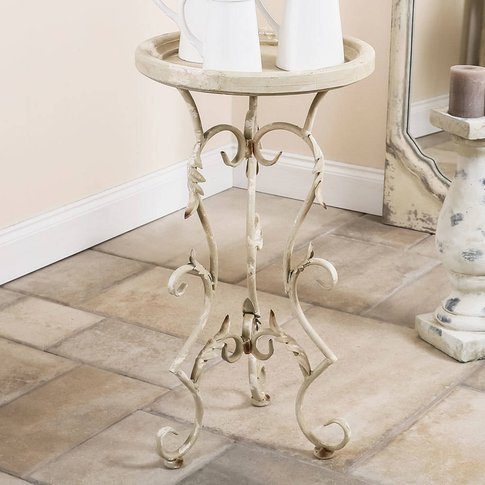 Classical Scrolled Tall Side Table
